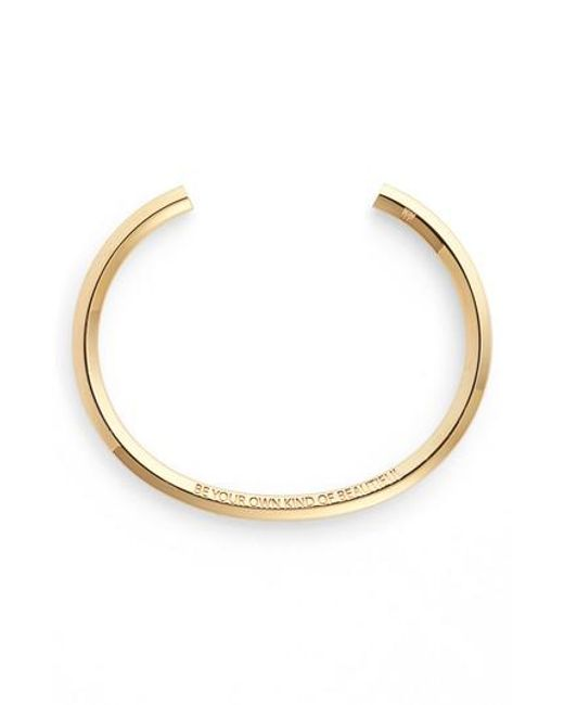 Stella Valle | Metallic Be Your Own Kind Of Beautiful Wrist Cuff | Lyst