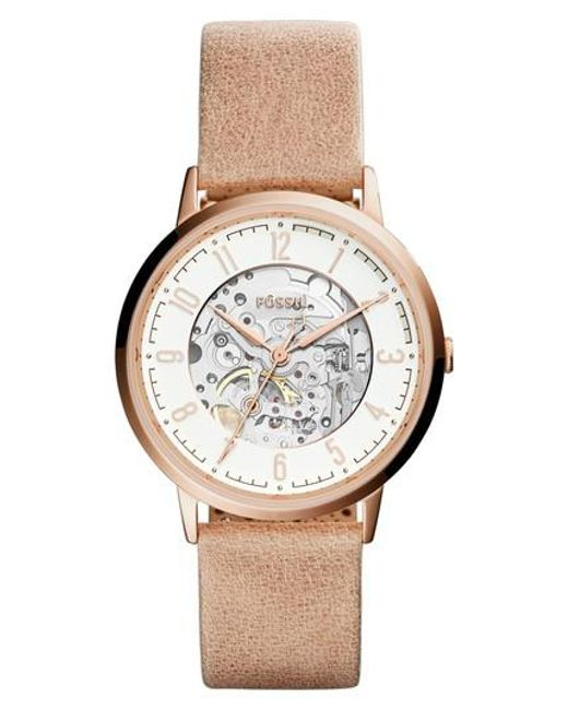 Fossil - Metallic Vintage Muse Automatic Leather Strap Watch - Lyst