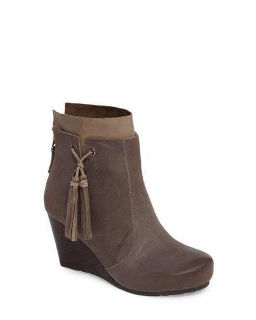 Otbt - Gray Vagary Wedge Bootie - Lyst