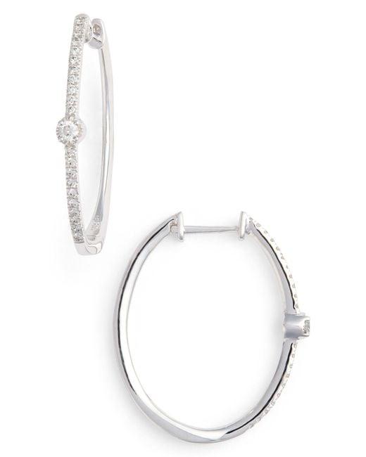 Bony Levy - Metallic Mila Diamond Station Hoop Earrings (nordstrom Exclusive) - Lyst
