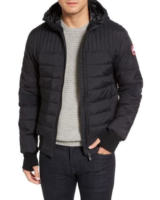 dbb488f5965 ... cheap canada goose gray cabri hooded down jacket for men lyst c32e4  890d3 ...