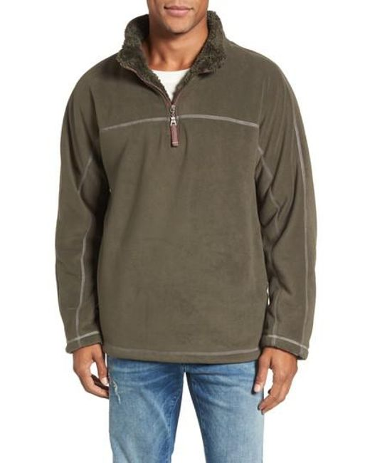 True grit Bonded Polar Fleece Lined Pullover in Green for Men | Lyst