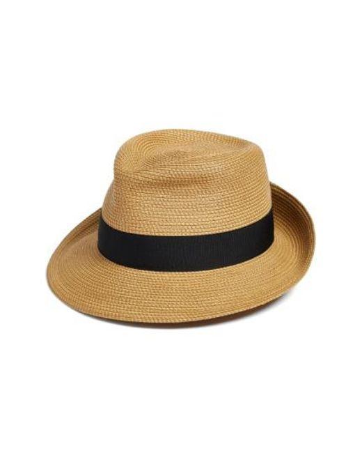 Eric Javits   Black 'classic' Squishee Packable Fedora Sun Hat   Lyst