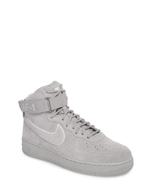 Nike - Gray Air Force 1 High '07 Lv8 Suede Sneaker for Men - Lyst