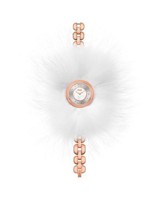 Fendi - Multicolor My Way Genuine Fox Fur Glamy Bracelet Watch - Lyst