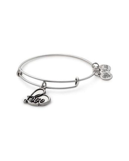 Alex And Ani Metallic Love Expandable Charm Bracelet Lyst