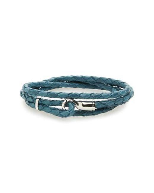 Miansai | Blue Braided Leather Bracelet for Men | Lyst