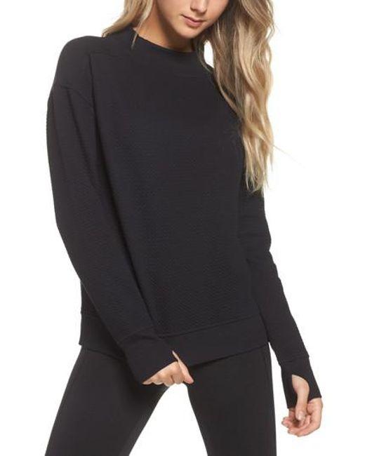 Zella   Black Textured Sweatshirt   Lyst