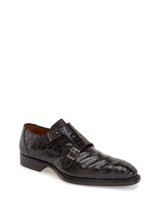 Mezlan - Black 'prague' Genuine Crocodile Double Monk Strap Shoe for Men - Lyst