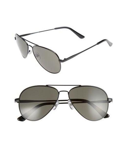 7b98198875d Nordstrom 1901 Davis 59mm Aviator Sunglasses in Gray for Men - Lyst