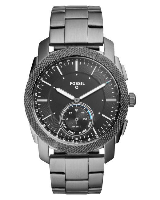 Fossil - Gray Machine Bracelet Hybrid Smart Watch for Men - Lyst