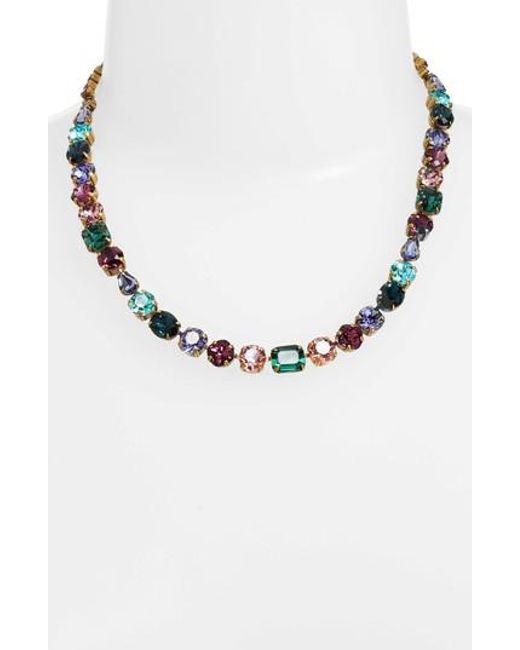 Sorrelli | Multicolor Tansy Line Crystal Necklace | Lyst