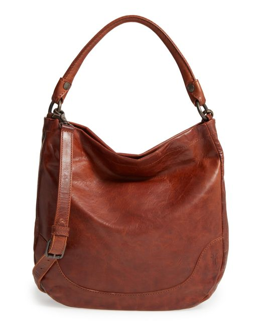 Frye - Brown 'melissa' Washed Leather Hobo - Lyst