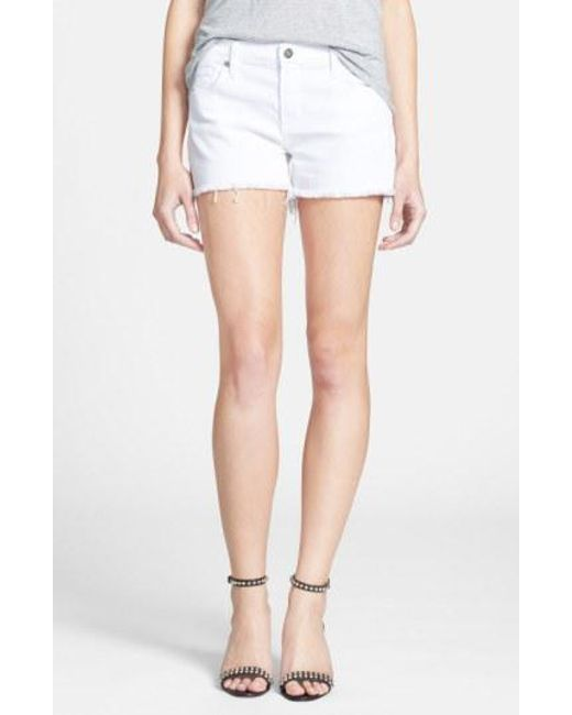 Citizens of Humanity - White 'ava' Shorts - Lyst