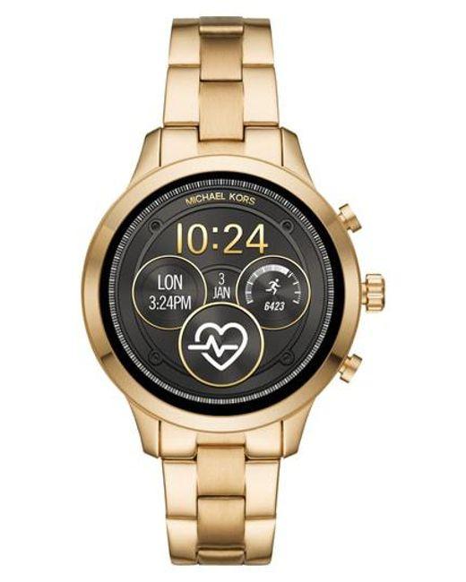 d062b908206a Michael Kors - Metallic Michael Access Runway Smart Bracelet Watch - Lyst