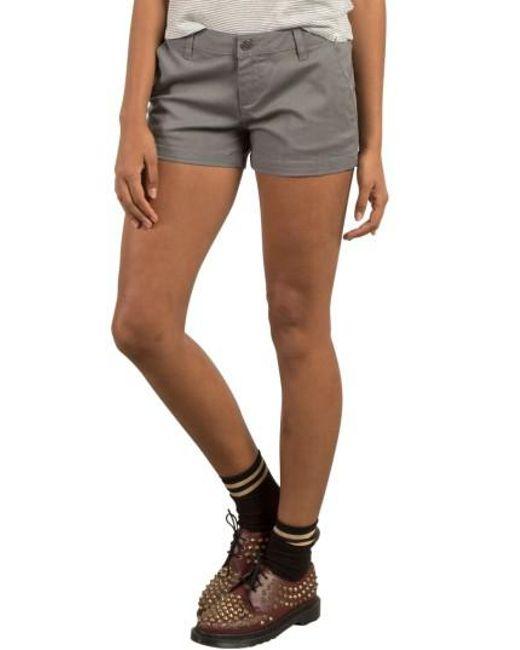Volcom   Gray Frochickie Chino Shorts   Lyst
