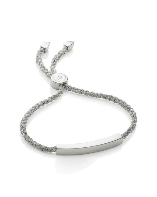 Monica Vinader - Metallic Engravable Linear Friendship Bracelet - Lyst