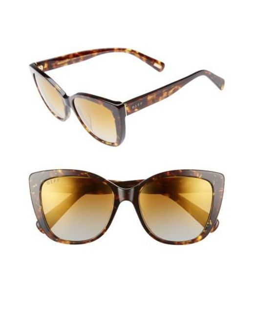 DIFF | Brown Ruby 54mm Polarized Sunglasses | Lyst