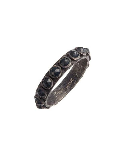 Armenta - Metallic New World Black Spinel Sterling Silver Stackable Ring - Lyst