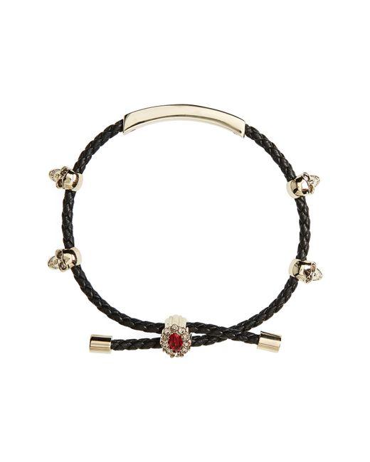 Alexander McQueen - Metallic Friendship Skull Bracelet - Lyst