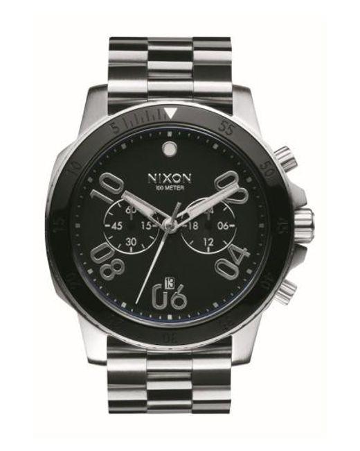 Nixon | Metallic 'ranger' Chronograph Bracelet Watch for Men | Lyst