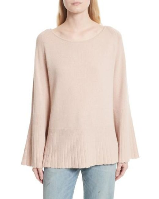 Elizabeth and James | Pink Clarette Bell Sleeve Sweater | Lyst