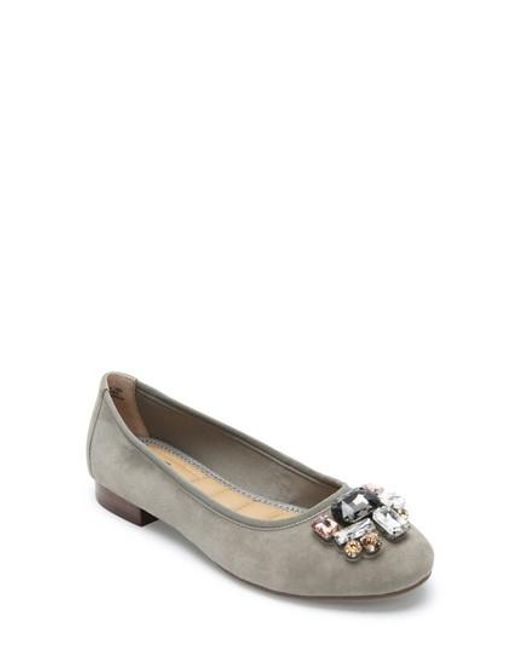 Me Too - Multicolor Sapphire Crystal Embellished Flat - Lyst