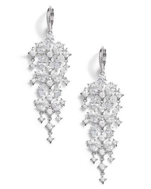 Nadri - Metallic Boho Crystal Chandelier Earrings - Lyst