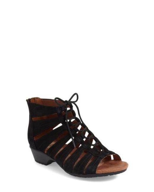 Cobb Hill | Black 'gabby' Lace-up Sandal | Lyst