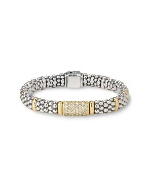 Lagos | Metallic Pave Diamond Bracelet | Lyst