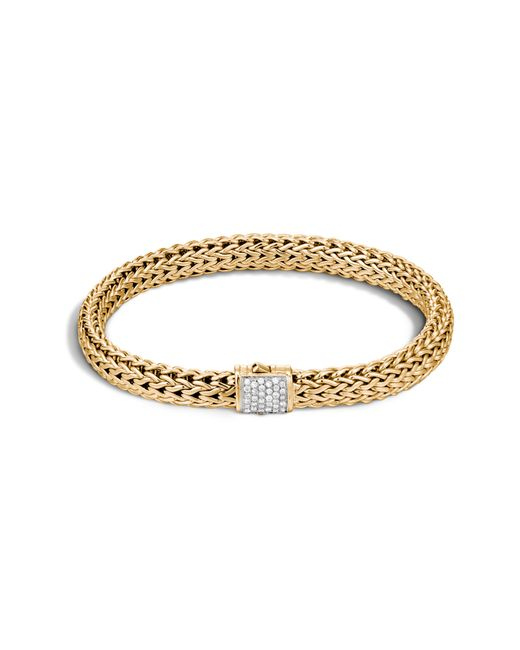 John Hardy - Metallic Classic Chain Diamond & 18k Gold 6.5mm Bracelet - Lyst