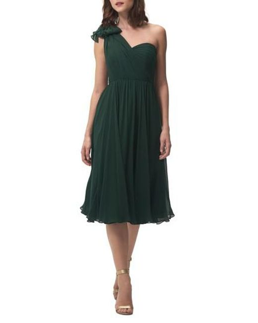 Jenny Yoo - Green Emmie Convertible Chiffon Tea-length Dress - Lyst