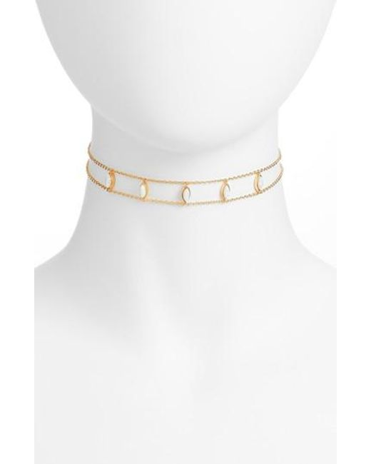 Five And Two - Metallic Joie Marquis Choker Necklace - Lyst