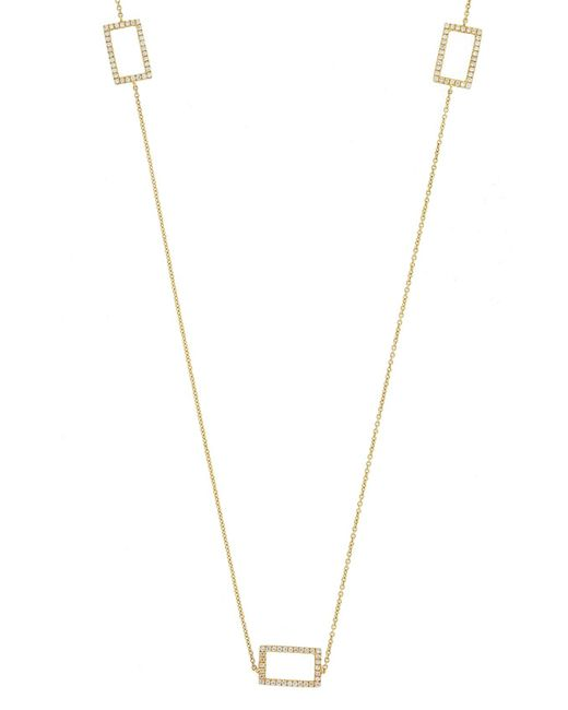 Bony Levy - Metallic Three Rectangle Diamond Station Necklace (nordstrom Exclusive) - Lyst