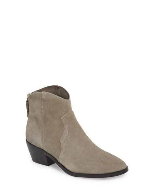 TOPSHOP - Gray Betty Western Bootie - Lyst