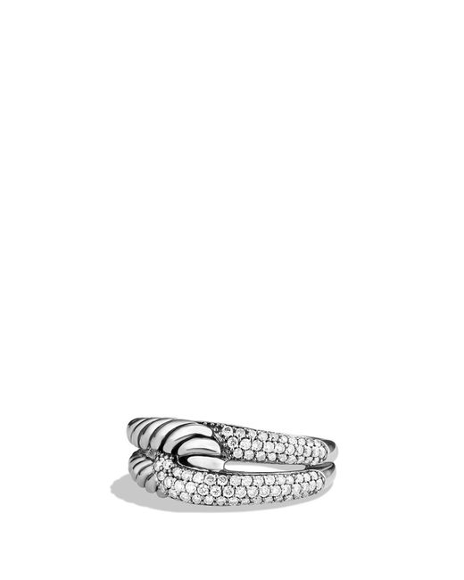David Yurman - Multicolor 'labyrinth' Single Loop Ring With Diamonds - Lyst