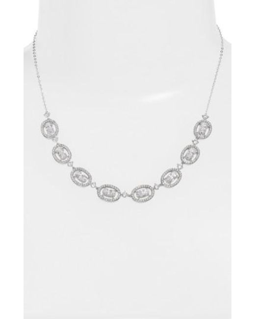 Nadri - Metallic Frontal Necklace - Lyst