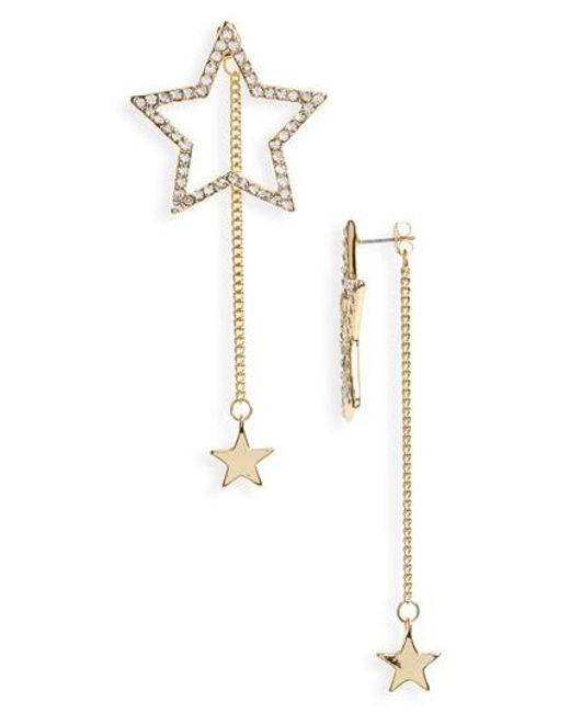 Cara | Metallic Large Star Statement Earrings | Lyst