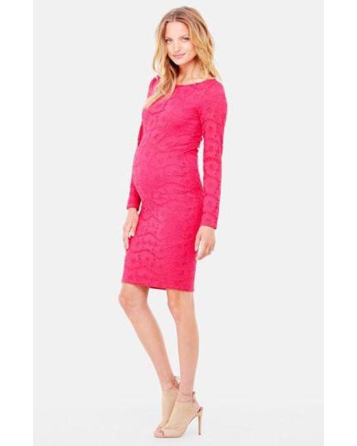 Ingrid & Isabel - Pink Ingrid & Isabel Lace Maternity Dress - Lyst