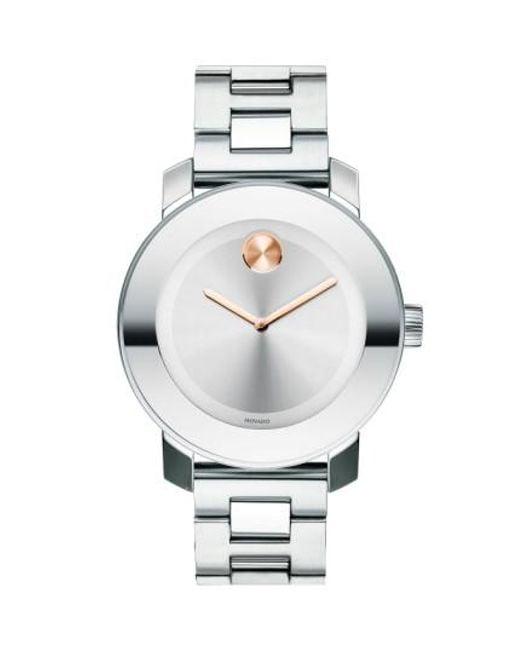 Movado | Metallic 'bold' Round Bracelet Watch | Lyst