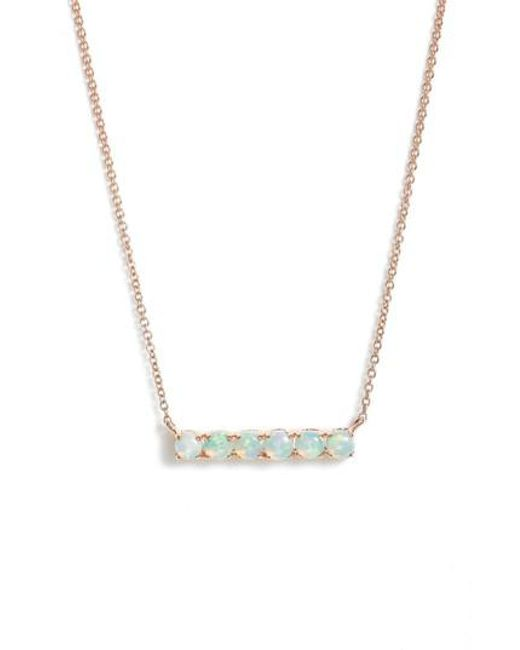 Dana Rebecca - Metallic Bar Pendant Necklace - Lyst
