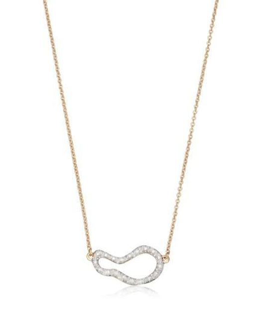 Monica Vinader | Metallic Riva Small Pod Diamond Necklace | Lyst