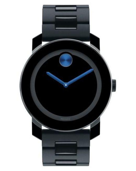 Movado   Black 'large Bold' Bracelet Watch   Lyst