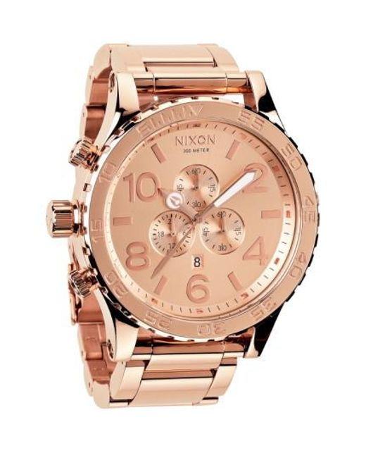 Nixon | Metallic 'the 51-30 Chrono' Watch for Men | Lyst