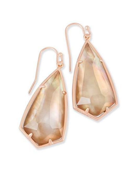 Kendra Scott | Brown Carla Semiprecious Stone Drop Earrings | Lyst