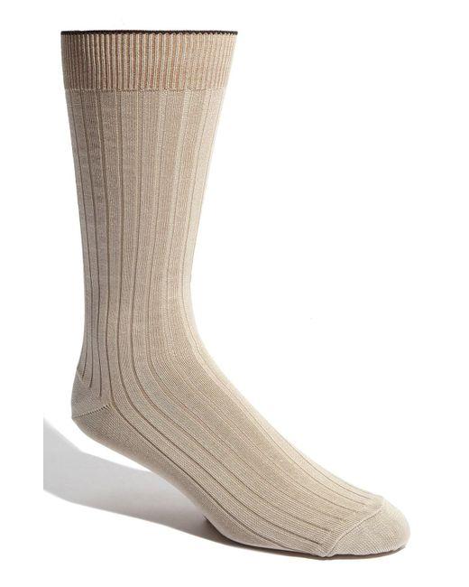 Nordstrom - Natural Cotton Blend Socks for Men - Lyst
