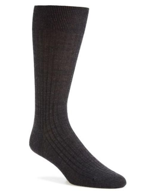 Pantherella | Black Merino Wool Blend Socks for Men | Lyst