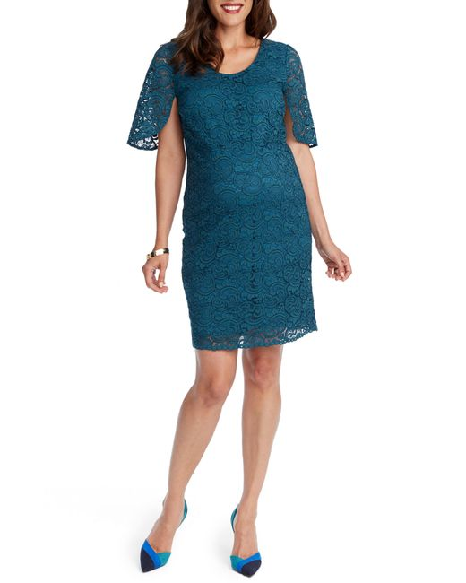 Rosie Pope - Blue Lainey Lace Maternity Sheath Dress - Lyst
