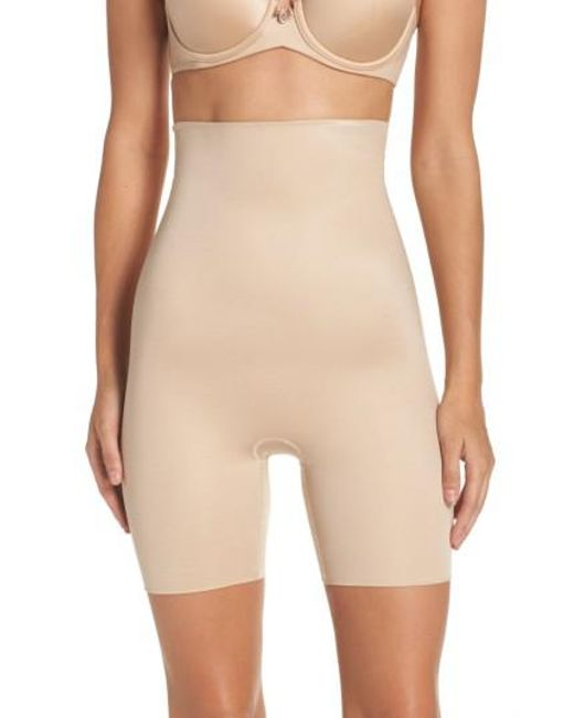 Spanx | Natural Spanx Power Conceal-her High Waist Shaping Shorts | Lyst