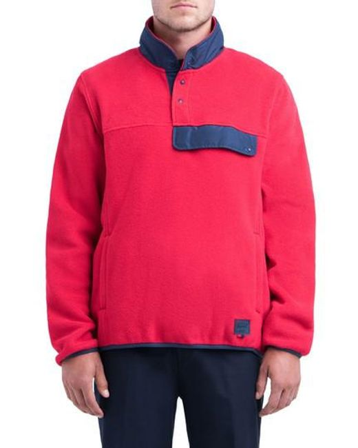 Herschel supply co. Fleece Pullover in Red for Men | Lyst